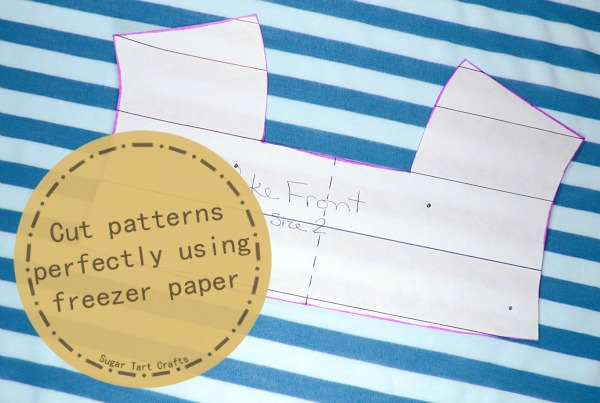 Cut patterns perfectly using freezer paper