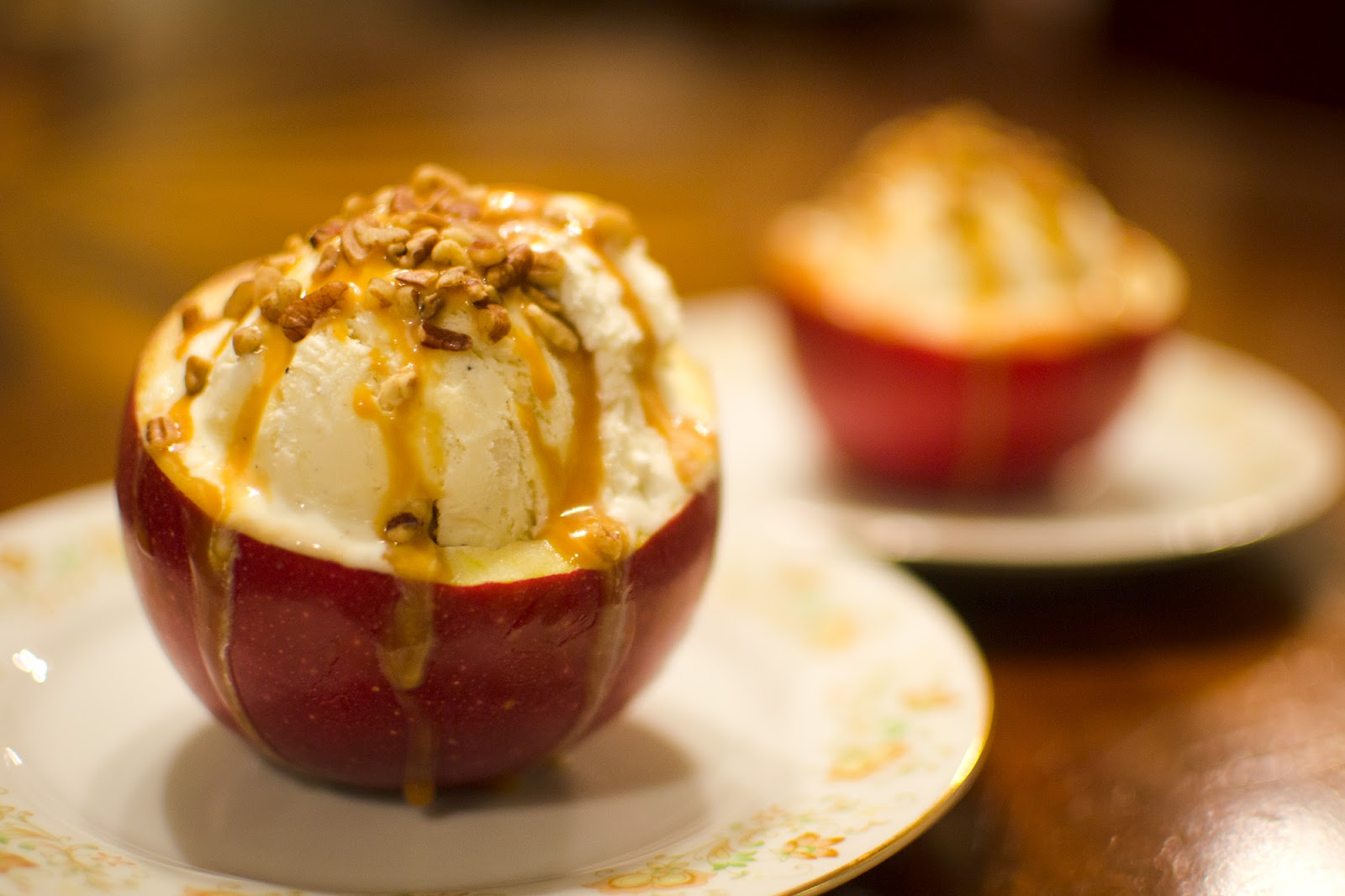 Truffles and Threads: Caramel Apple Sundaes