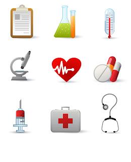 医療アイコンのイラスト Medicine icons vector graphic