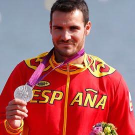 medalla de plata Saúl Craviotto en Piragüismo K1 200 metros España Juegos Olímpicos de Londres 2012