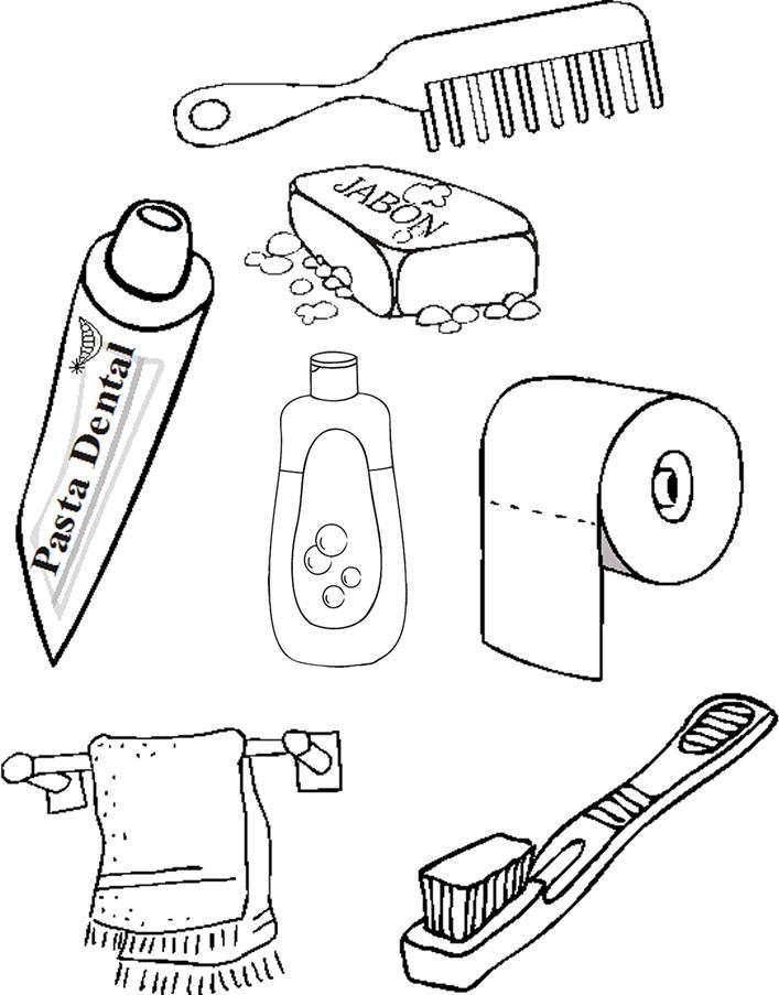 Higiene Personal Para Colorear