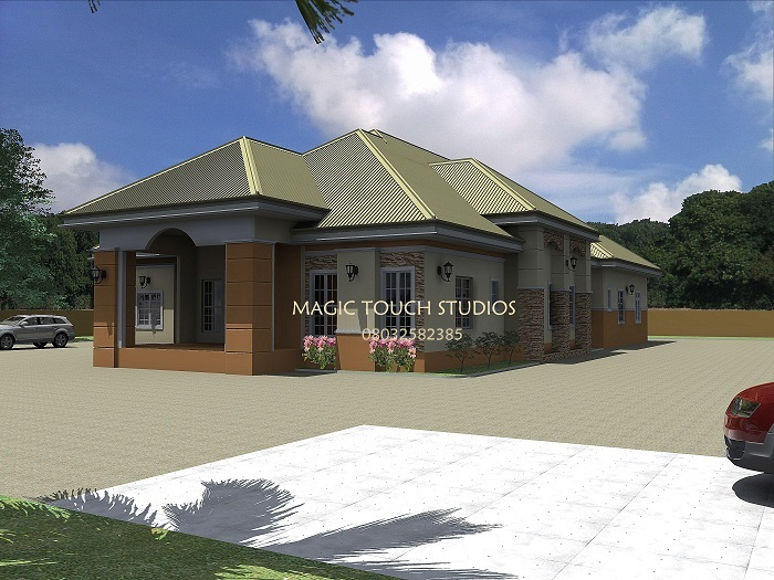 4 bedroom bungalow for Two bedroom bungalow plans