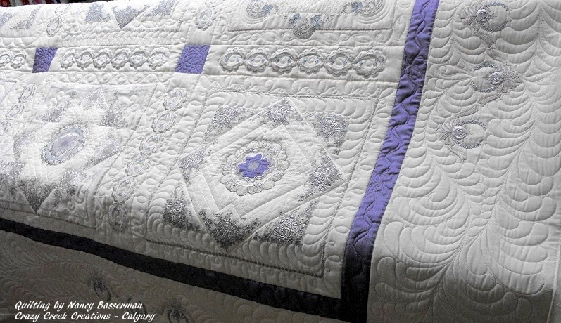 Lavender Dreams - Embroidered Quilt  by Carol M