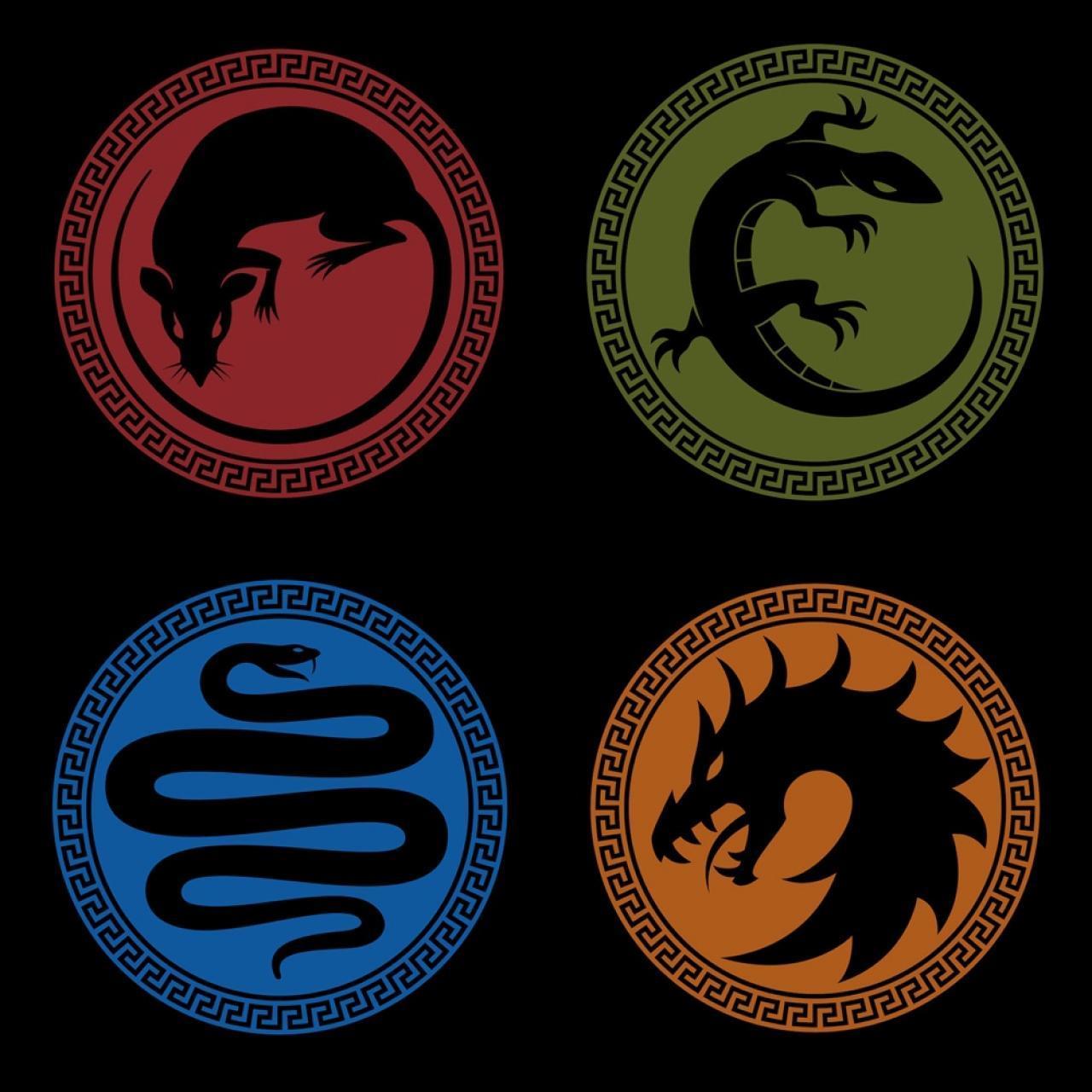 """Logotipos de las Escuadras Militares en """"El Juego de Ender"""""""