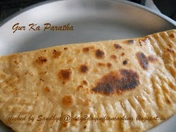 recipe of making indian flat bread stuffed with jaggery, healthy recipe
