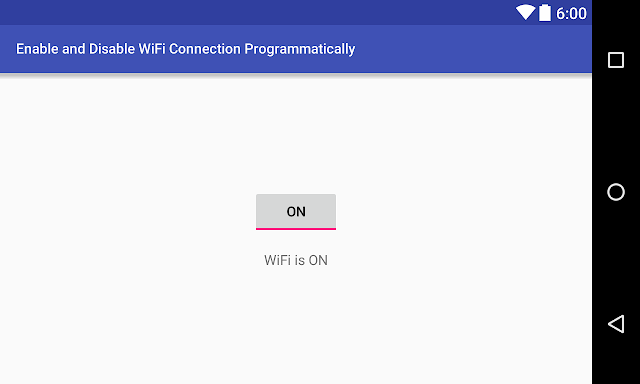 How to Turn ON and OFF WiFi Connection Programmatically in Android