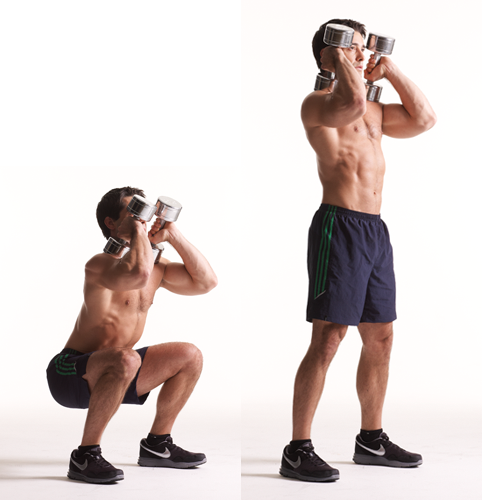 Dumbbell Rows In Squat Position Images & Pictures - Becuo Dumbbell Front Squats