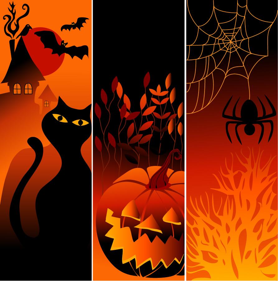 ハロウィンかぼちゃの背景 halloween pumpkin backgrounds イラスト素材2