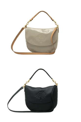 Effie Satchel in Pebbled Beige Wrinkled Patent Leather and Black Pebbled  Leather 5db5021226dd4