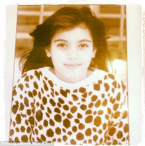 Kim Kardashian Tweet As Little Girl, Aged Seven