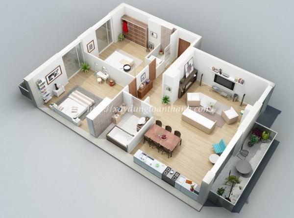 bản vẽ tầng trệt xây nhà trọn gói