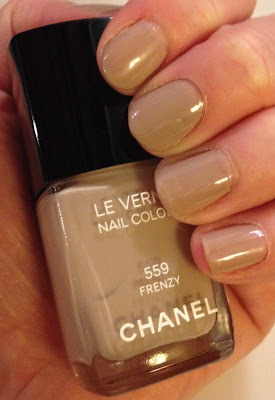 Chanel, Chanel Frenzy, Chanel Le Vernis Nail Colour, nail polish, nail lacquer, nail varnish, manicure, my latest mani, my latest manicure, neutral nails