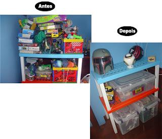 antes e depois da organização