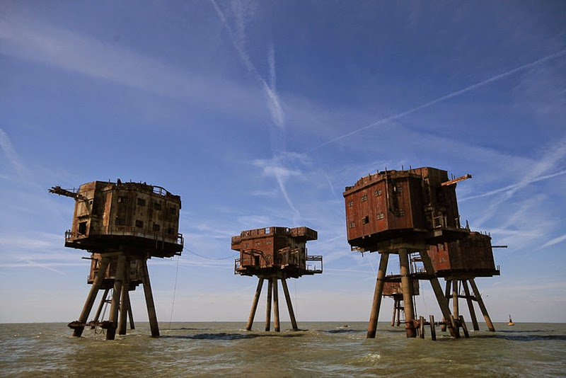 4. The Maunsell Sea Forts, Engalnd - 31 Haunting Images Of Abandoned Places That Will Give You Goose Bumps