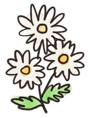 マーガレットのイラスト(花)