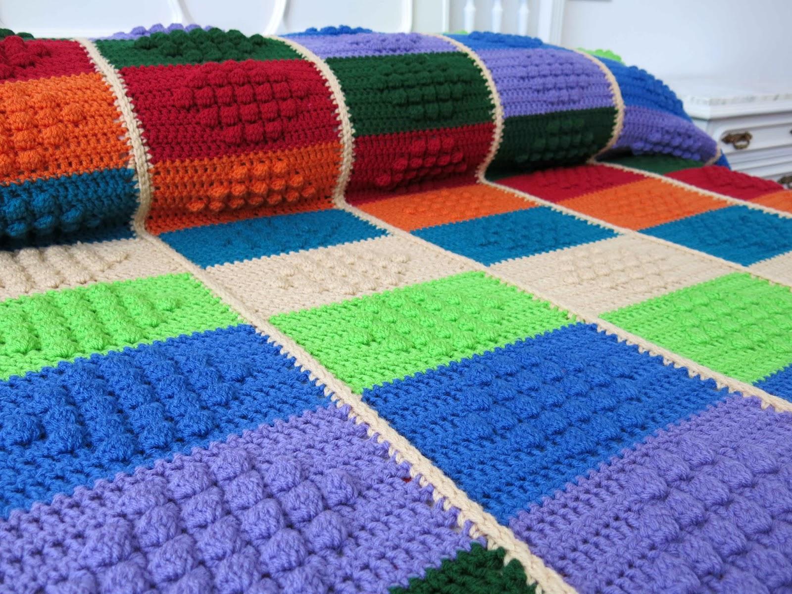 Manta de crochet espacio crochet - Manta de crochet facil ...