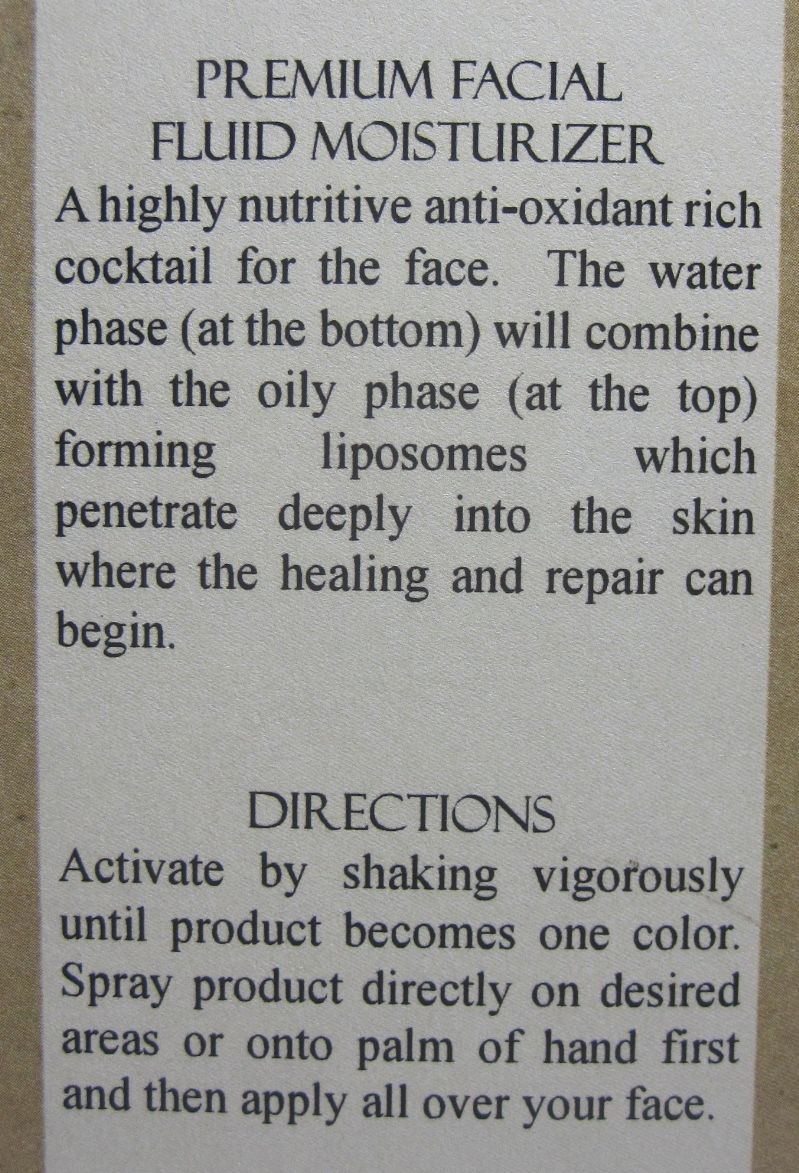 Oblige by Nature Premium Facial Fluid Moisturize directions