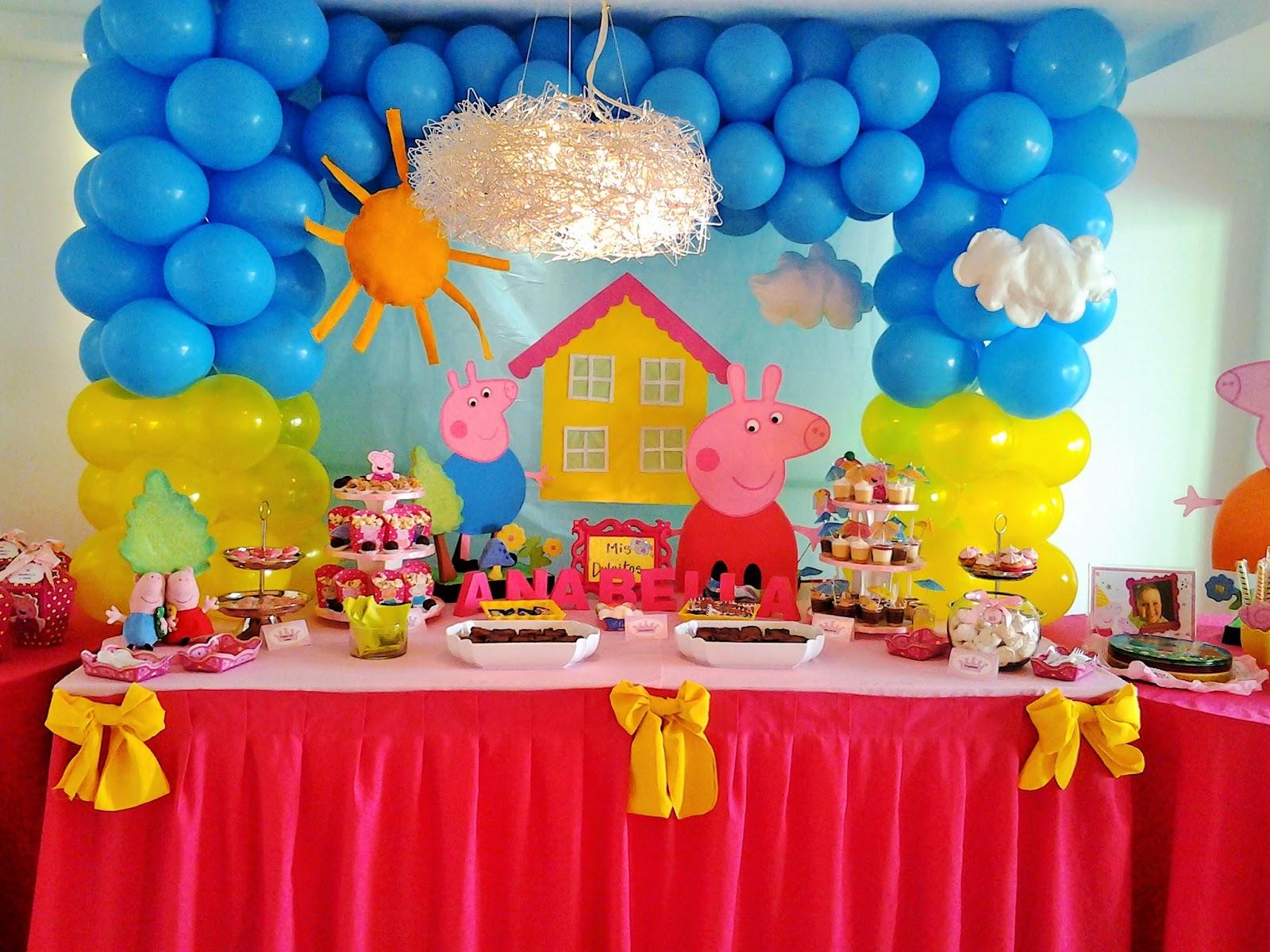 Decoracion Cumplea?os Peppa Pig ~ PKELANDIA Fiesta de Peppa Pig Cumplea?os de Anabella