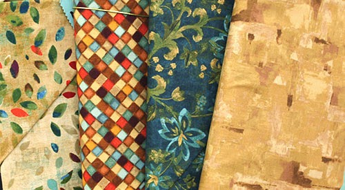 """Fabric Collection: """"Water Garden"""" by Andover"""