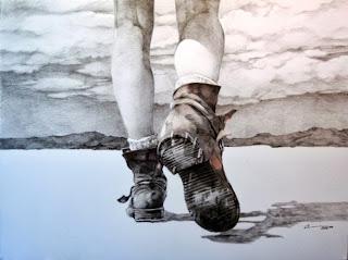 caminando, camino, botas, caminar, buscar camino