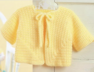 Crochet an easy sweater for baby pattern