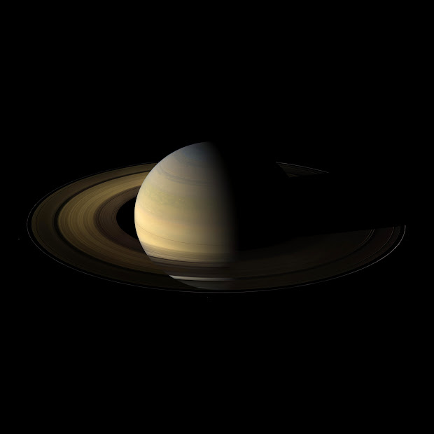 Cassini Orbiter view of Saturn and Rings: the Rite of Spring!