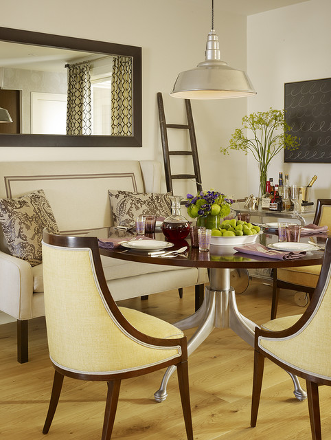 Wide Wooden Dining Room Tables For Small Spaces near some Cozy Chairs under the Glossy Lamp