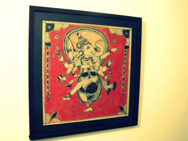 Ganesha Acrylic painting on handmade paper