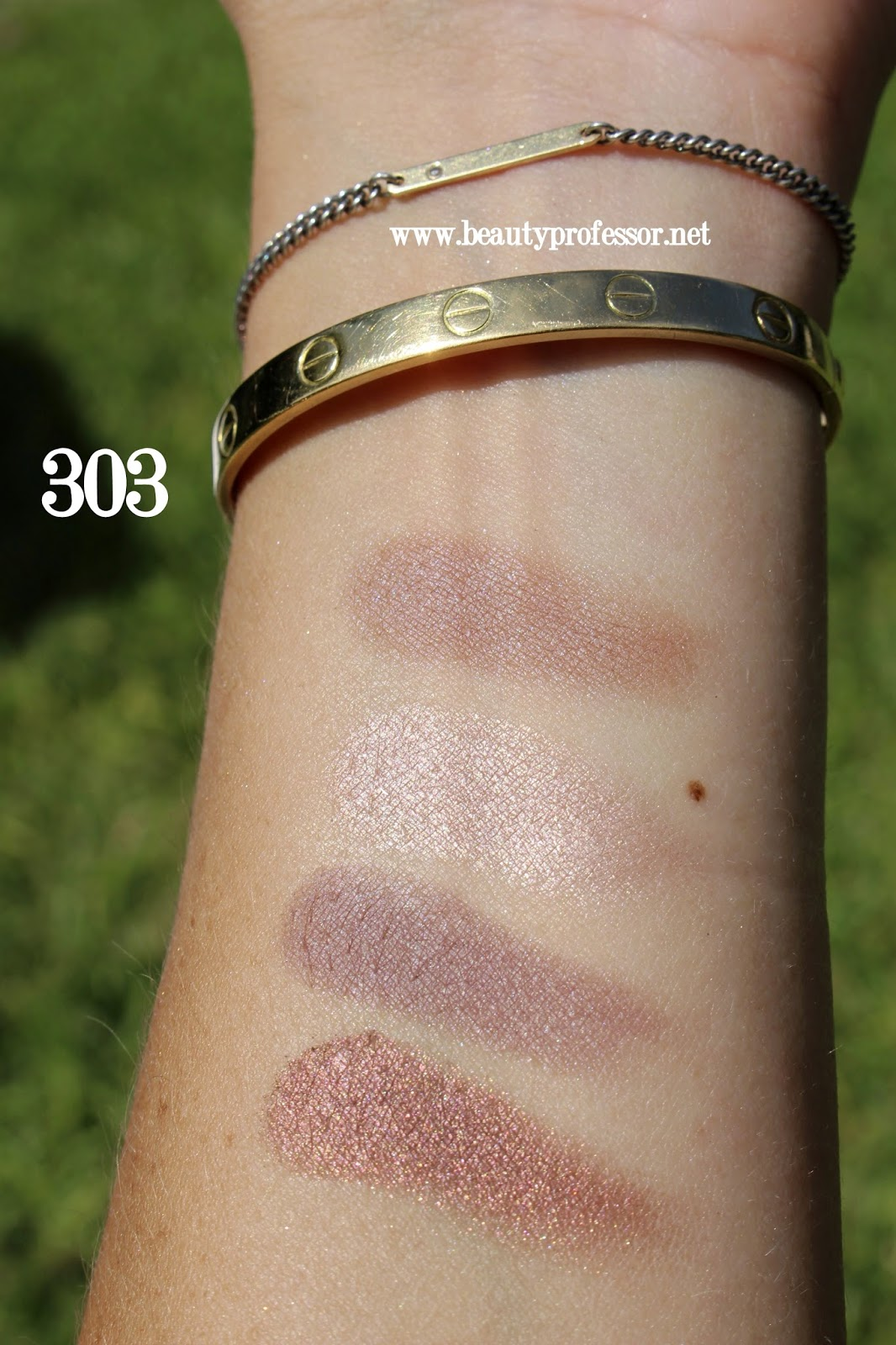Cle de peau eye color quad 303 baby universe swatches