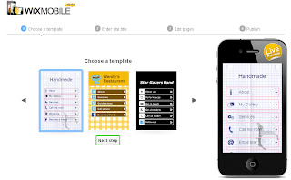 Create a flash mobile website ScreenShot