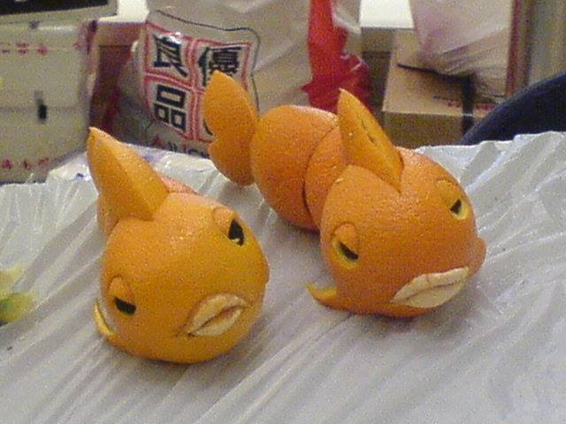 Funny orange carving art 7