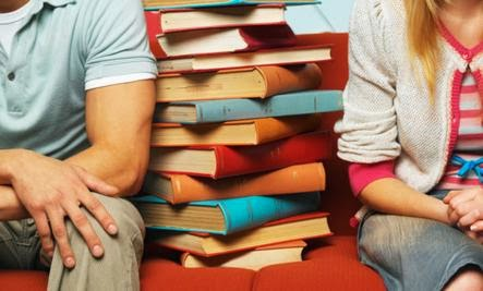 The 5 Best Relationship Books for Valentine's Day - man woman books library