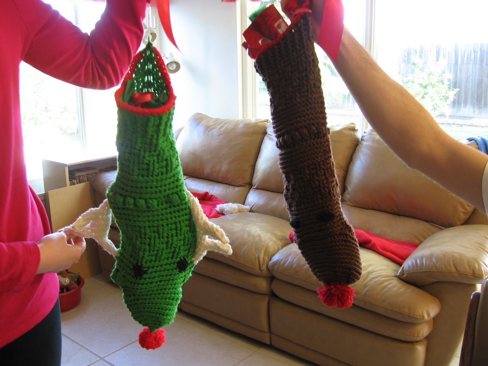 Peachy Will Knit Mindfully Robert39S Reindeer Christmas Stocking Easy Diy Christmas Decorations Tissureus
