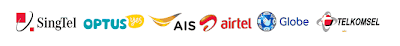 SingTel, Optus, AIS, AirTel, Globe, Telkomsel