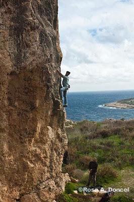 Gozo escalada en roca