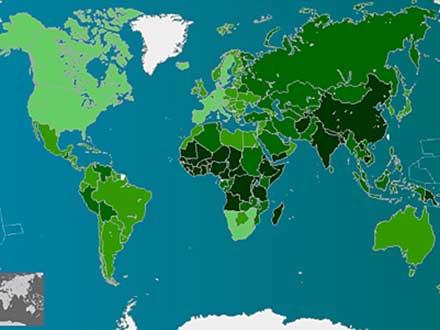 mapa contaminacion mundial