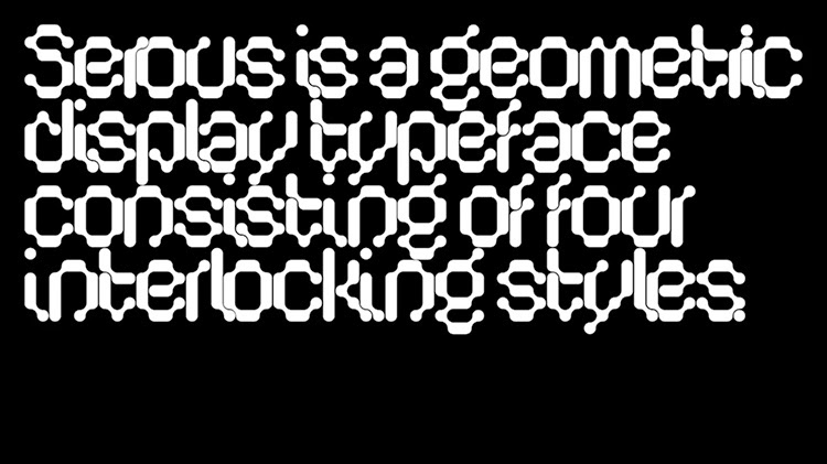 Serous :: An interlocking display typeface by Formist