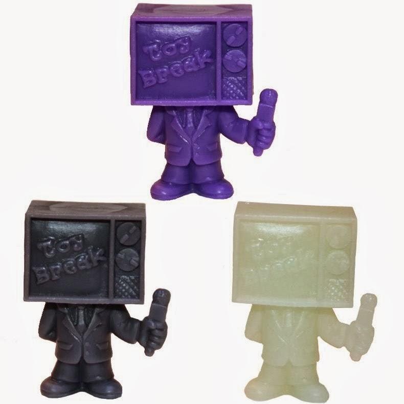 Toy Break PVC 1.5″ Mini Figure by October Toys - Purple, Grey & Glow in the Dark Colorways