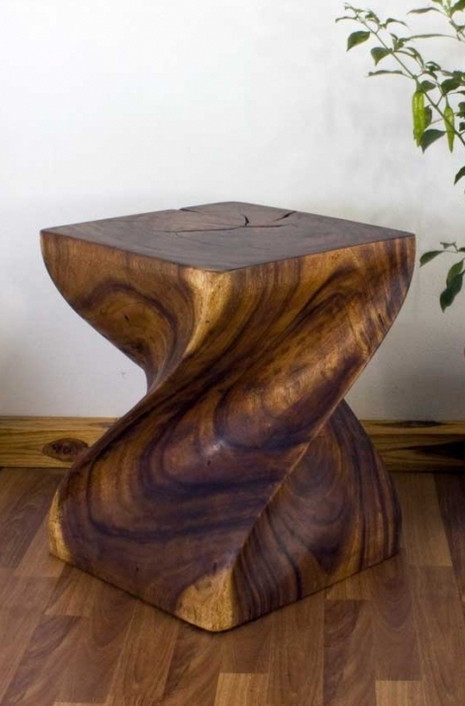 Twisted Wood End Tables