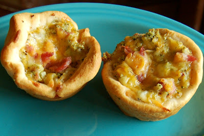 Ham, Broccoli and Cheese Muffin Cups
