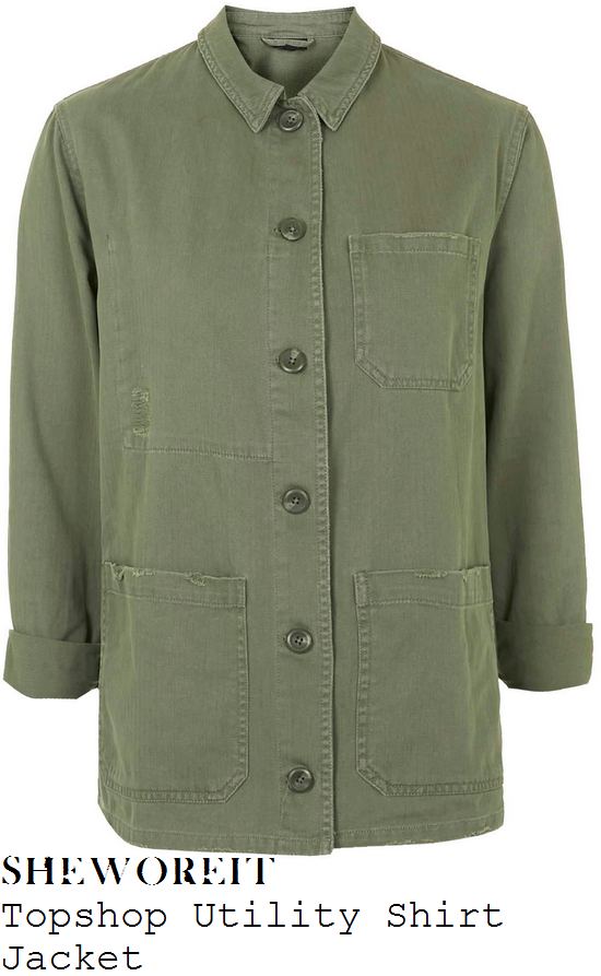 kate-moss-khaki-button-up-utility-shirt-jacket