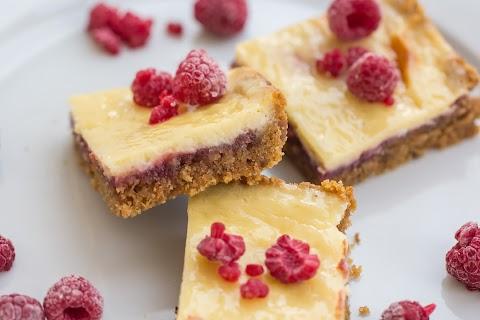 Raspberry-Lime Cheesecake Squares