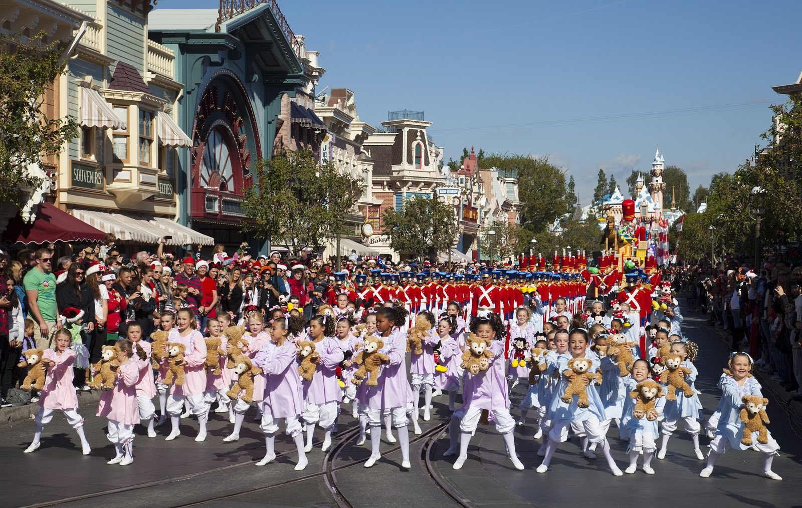 a segment of the 2011 disney parks christmas day parade is taped at disneyland in anaheim calif on saturday the show airs christmas day
