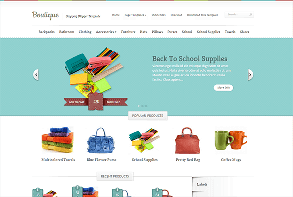 Boutique Blogger Template | High Quality Free Blogger Templates