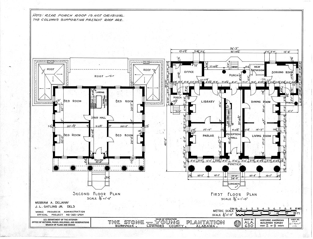 Historic home plans styles of american architecture in for Historical home plans