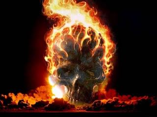 Wallpaper Keren Tengkorak Api