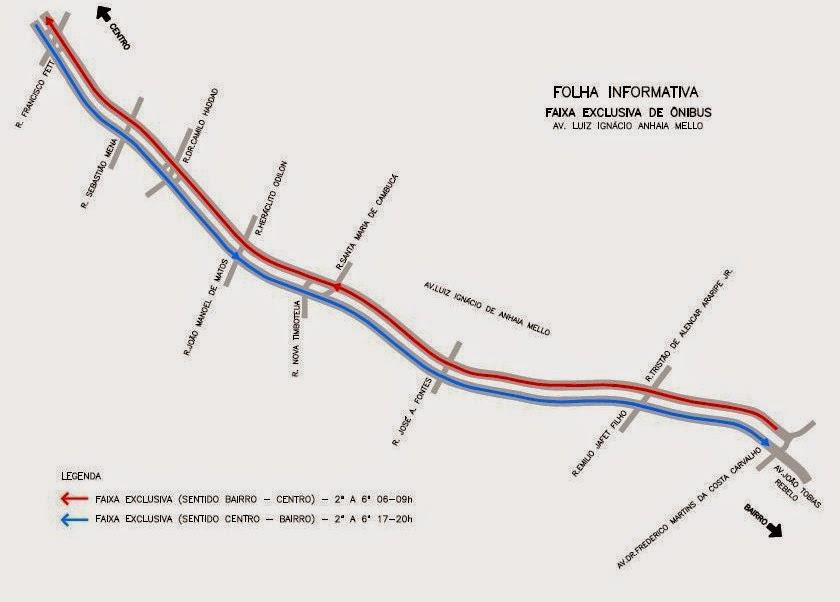 faixa exclusiva para ônibus da Avenida Prof. Luiz I. de Anhaia Mello