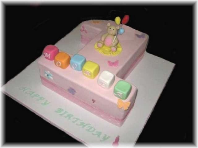 Images Of Baby Birthday Cake : Birthday Cakes: Cakes for Baby Girls