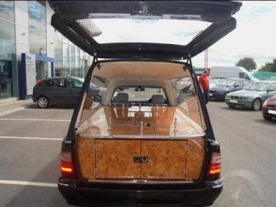 Mercedes-Benz E-Class funeral car
