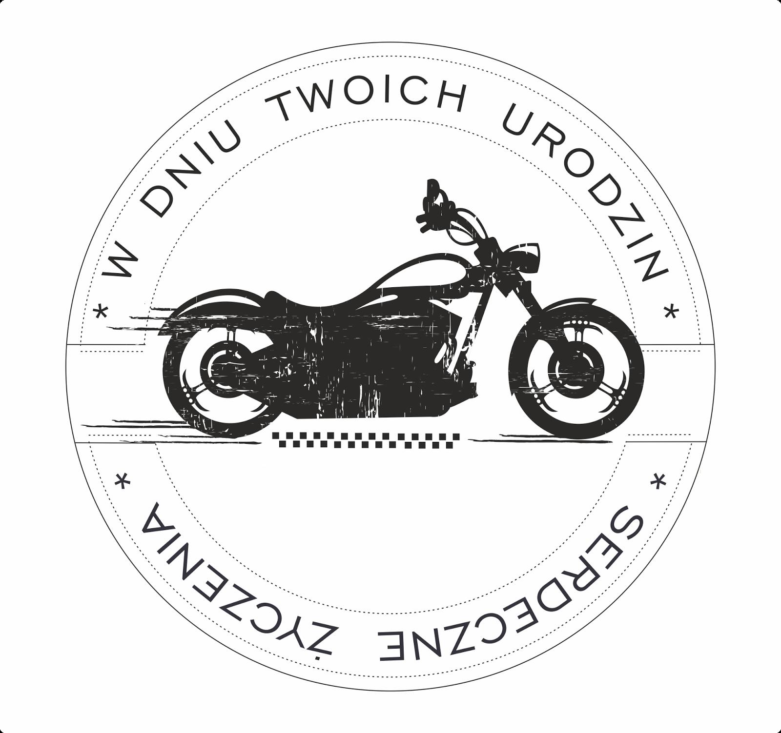 stempel z motocyklem